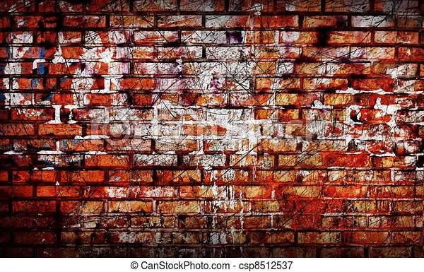 Wallpaper Batu Bata 3d Old Brick Wall Royalty Free Clip Art Csp8512537