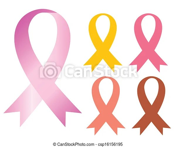 Cancer ribbon Pink cancer ribbon health care, vector 10