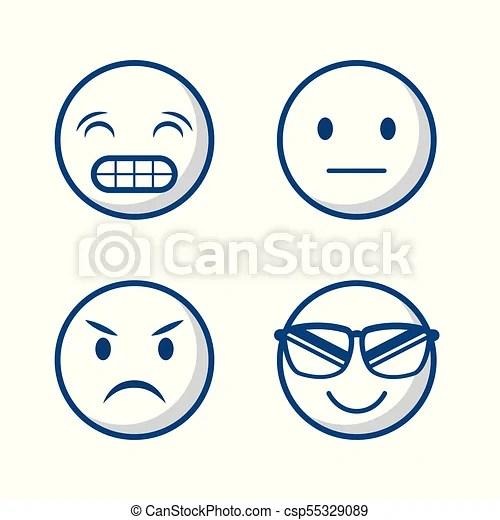 Cartoon face design Cartoon faces icon set over white background