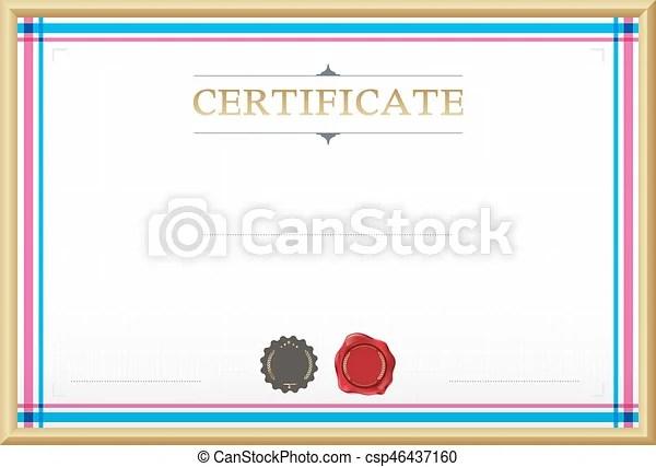 Certificate border, certificate template vector illustration - certificate border template