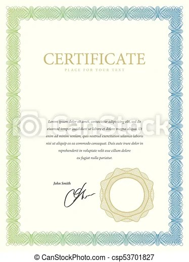 Certificate template diploma border award background gift voucher