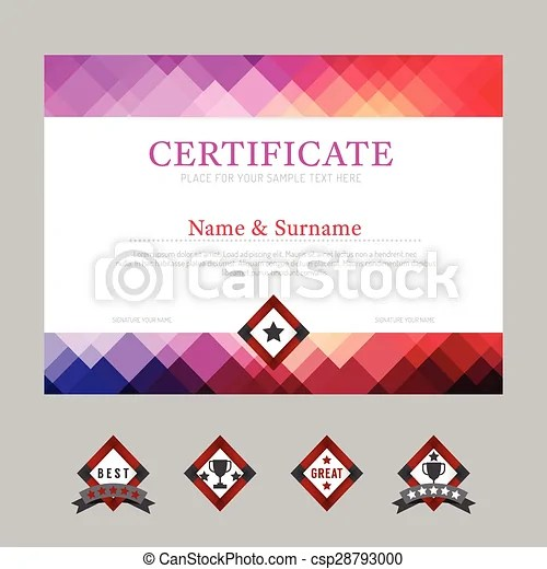 Certificate template layout background frame design vector modern - certificate layout