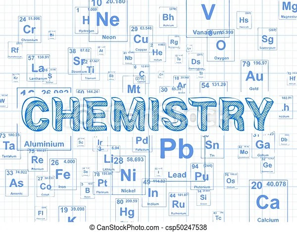 Chemistry Background Graph Paper Chemistry Word On
