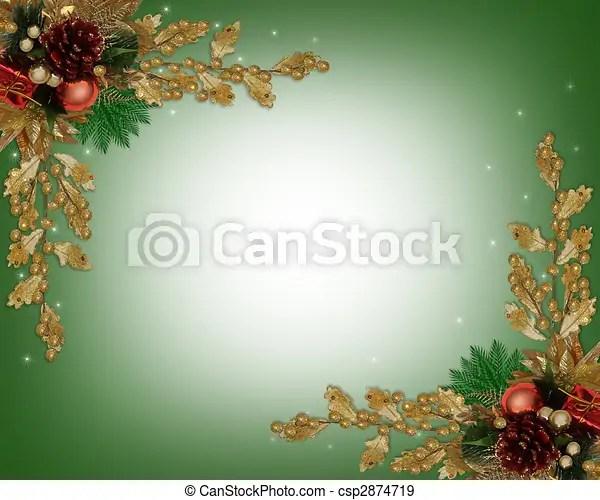 Christmas border elegant Image and illustration composition for