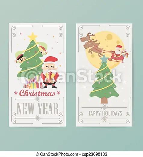 Christmas card design layout template b