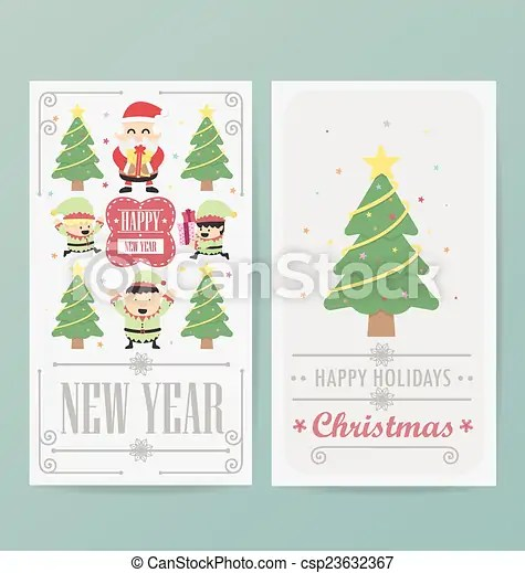Christmas card design layout template