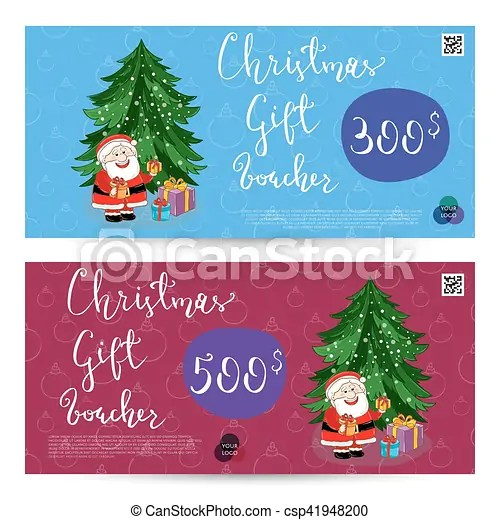 Christmas gift voucher with prepaid sum template Christmas gift - christmas gift vouchers templates