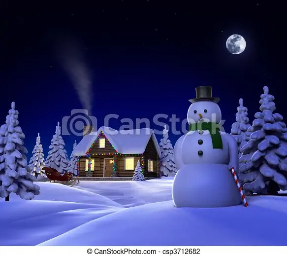 Snow Village 3d Live Wallpaper And Screensaver Christmas Snow Cabin A Christmas Themed Snow Cene Showing