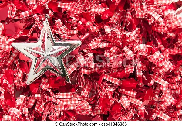 Christmas theme background with silver star shape decoration - christmas theme background