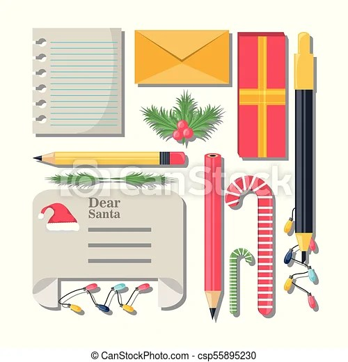 Christmas wish list design Christmas wish list and drawing