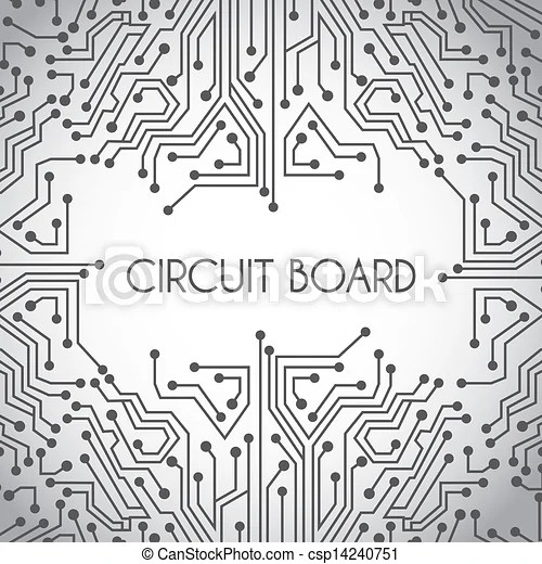 Circuit board design Circuit board design over gray background