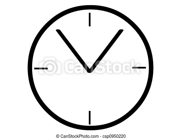 A simple black clock face template stock illustration - Search