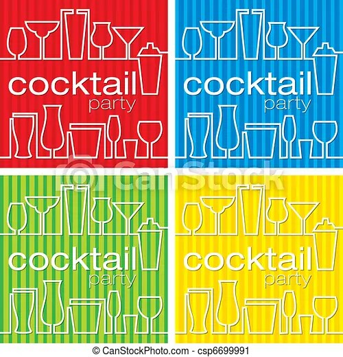 Cocktail party Cocktail party invitations in vector format