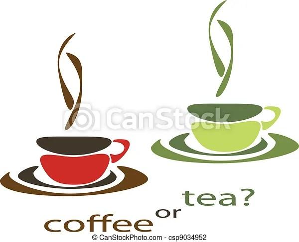 Coffee Or Tea Two Nice Simple Cups For Tea And Coffee