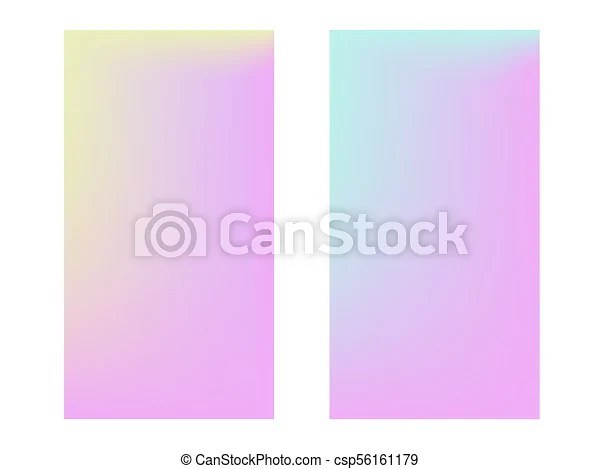 Collection of gradient backgrounds Soft color backgroundtrendy