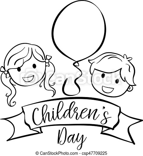 happy children day hand draw collection stock vector autohappy children day hand draw collection stock vector