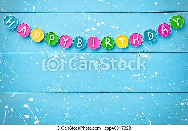 Colorful happy birthday background with copyspace stock photo - birthday backround