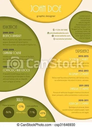Colorful modern resume cv template Colorful modern resume