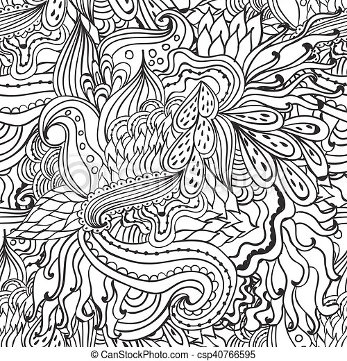 Coloring pages for adultsdecorative hand drawn doodle nature - Culring Pajis