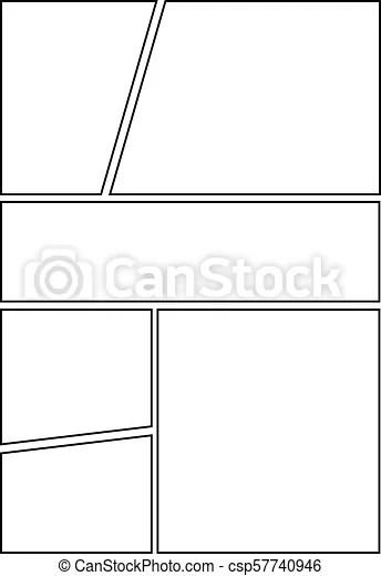 Comic storyboard layout 26 Manga storyboard layout template for