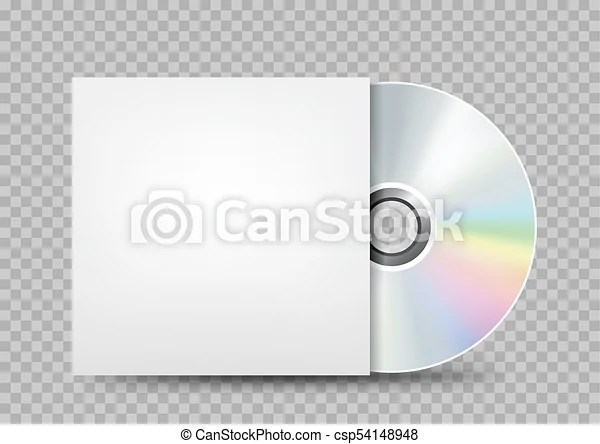 Compact disc white cover transparent The cd-dvd compact disc and