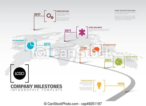 Company milestones timeline template Vector infographic company