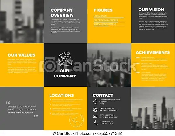 Company profile template - corporation main information predentation - profile company template