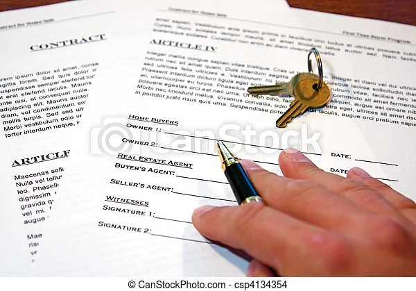 Contract of home sale Contract for the sale of a new home stock - free home sale contract
