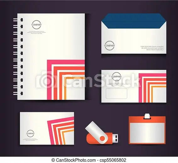Corporate identity branding template design Corporate identity