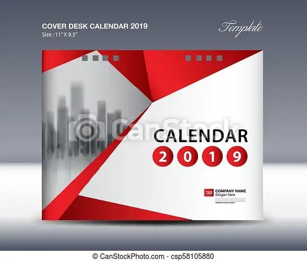 Cover desk calendar 2019 design, flyer template, ads, booklet