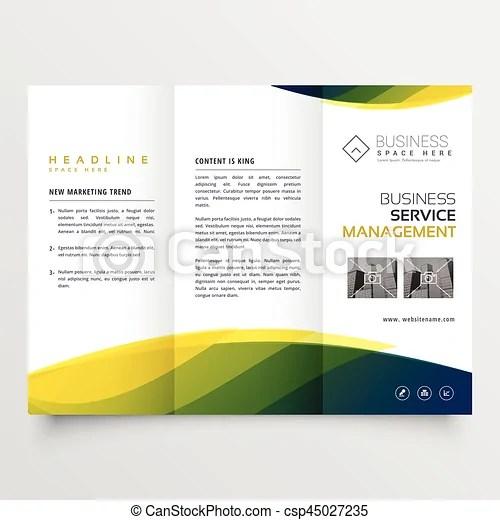 Creative business tri-fold brochure leaflet template design for - leaflet template