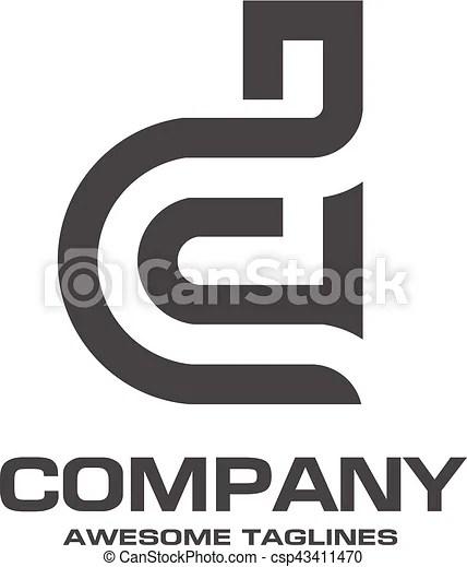 Creative letter d logo abstract business logo design template