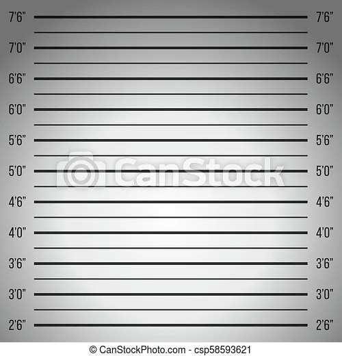 Creative vector illustration of police lineup, mugshot template with