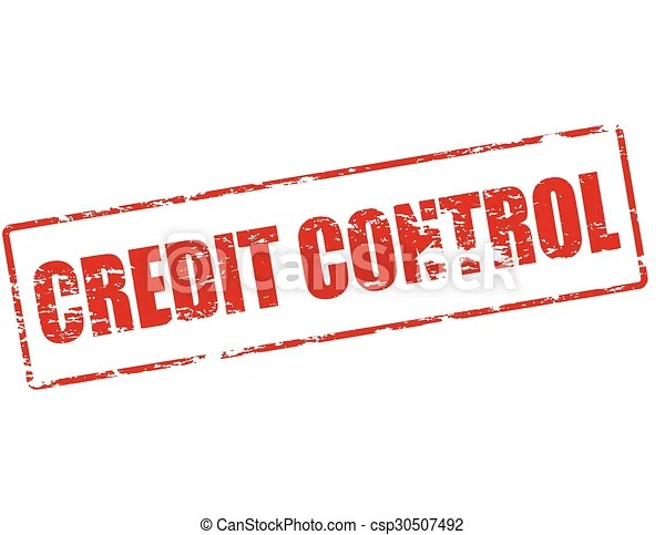 Credit control Rubber stamp with text credit control inside, vector
