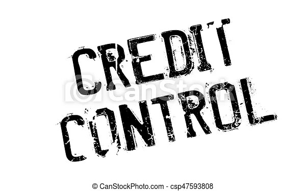 Credit control rubber stamp grunge design with dust vector