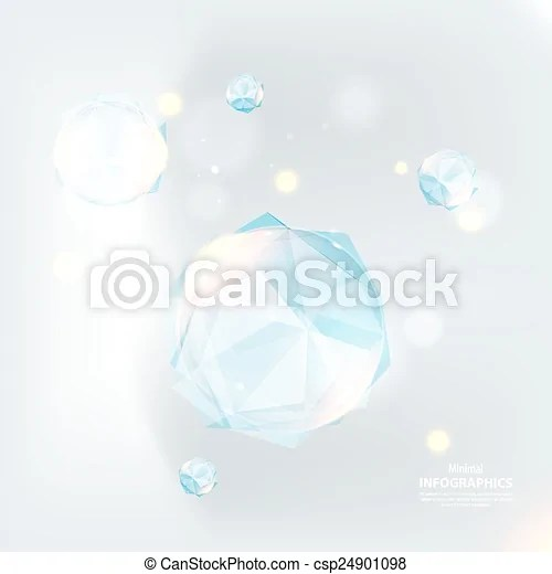 Cristal ice On an indistinct blue background vector eps vectors