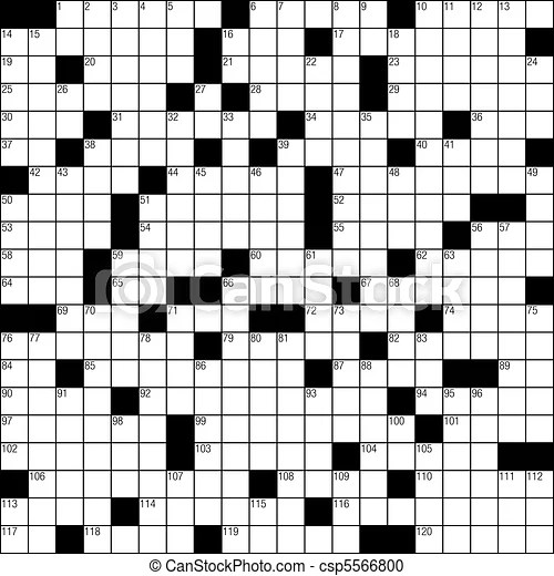 Blank crossword puzzle template vector clipart - Search Illustration - blank crossword template