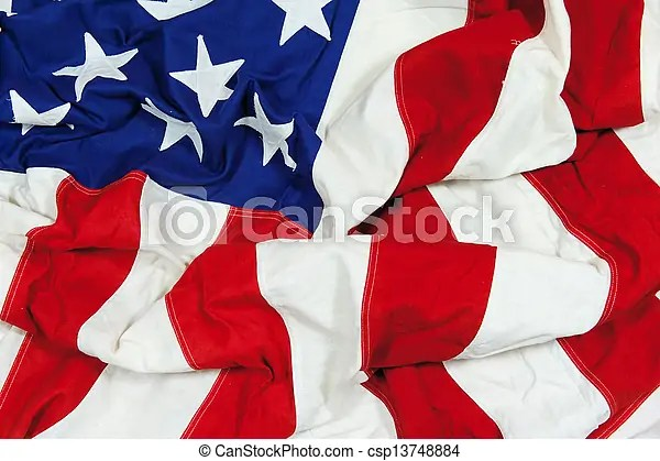 Crumpled and wrinkled american flag background A crumpled and