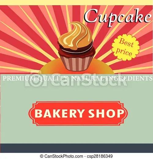 cupcake template vector