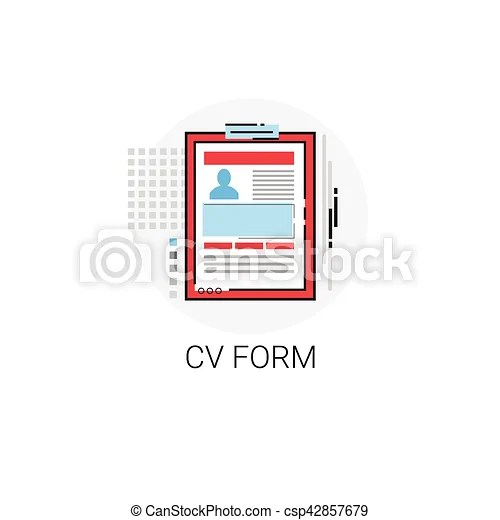 Cv from job vacancy recruitment application icon vector illustration