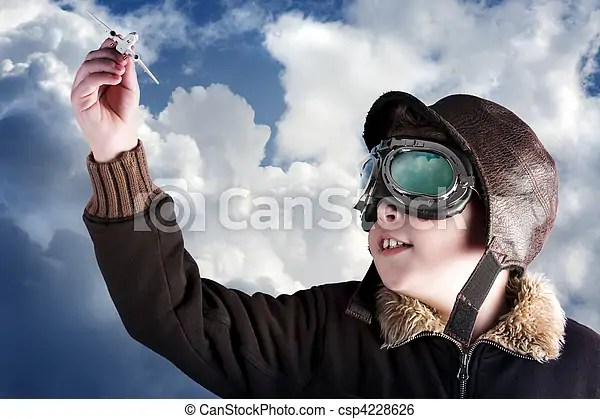 Dad I Wanna Be A Professional Pilot When Im Older Boy
