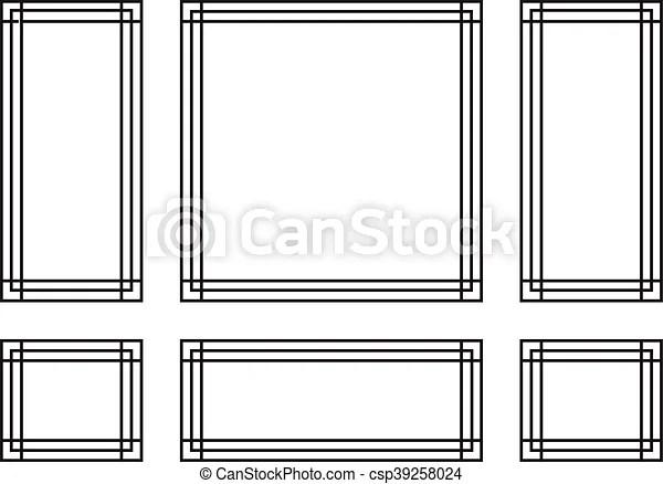 Decorative frames for walls or backgrounds interior design