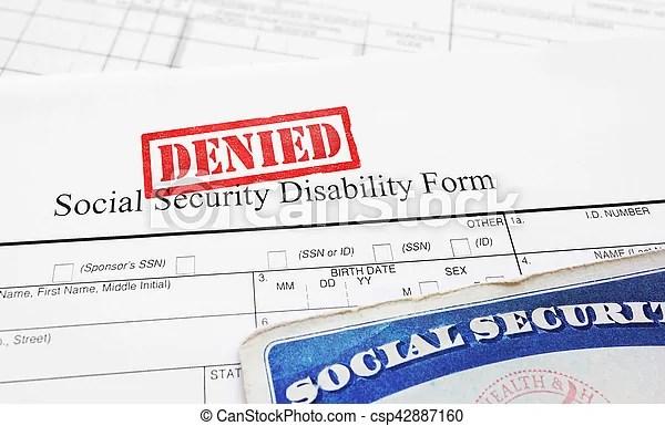 Denied social security disability application Denied social
