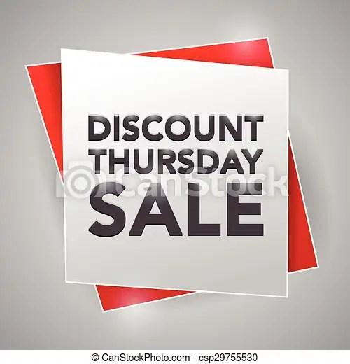 Discount thursday sale, poster design element - sale poster design
