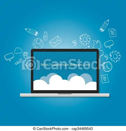 Domain subdomain name  illustration internet address vector