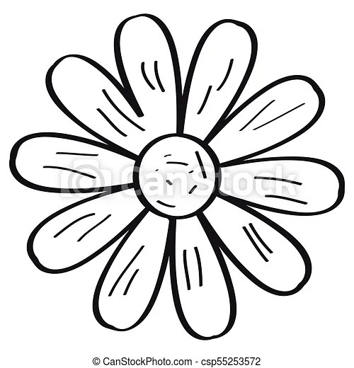Drawing of a flower retro style vector illustration design