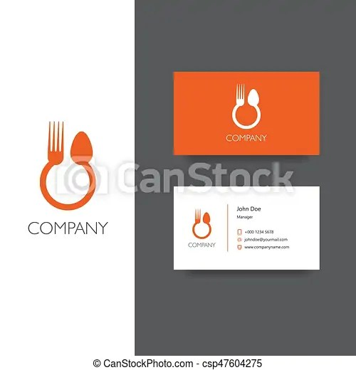 Eat, food delivery or restoraunt logo and business card template