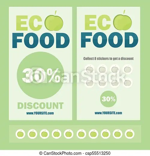 Eco flyer, brochure, promotions coupon or banner design with