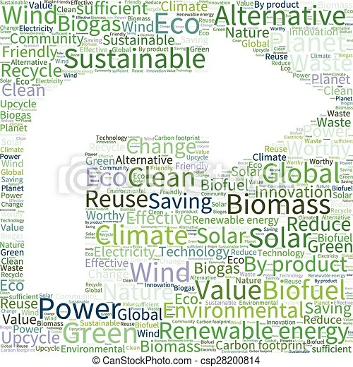 Eco4 (49)eps Ecology earth concept word collage vector clip