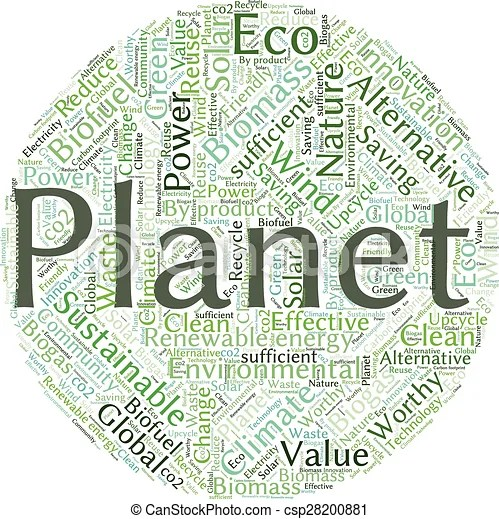Ecology earth concept word collage environmental poster design